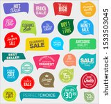 modern badges stickers and... | Shutterstock . vector #1533503045