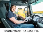 logistics   proud driver or... | Shutterstock . vector #153351746