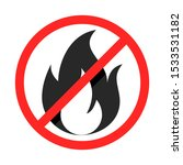 no fire sign. flat style... | Shutterstock .eps vector #1533531182