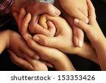 family hands | Shutterstock . vector #153353426