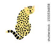 leopard vector illustration on... | Shutterstock .eps vector #1533536858
