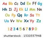 alphabet for children. kids... | Shutterstock .eps vector #1533557948