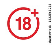 18  sign. age limit red vector... | Shutterstock .eps vector #1533568238