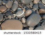 Pile Sea Gray Stones Backgroun...