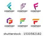 set of letter f logo icons... | Shutterstock .eps vector #1533582182