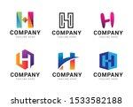 set of letter h logo icons... | Shutterstock .eps vector #1533582188
