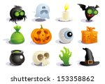halloween symbols collection. | Shutterstock .eps vector #153358862