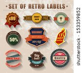 vintage labels and ribbons with ... | Shutterstock .eps vector #153359852