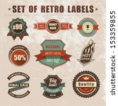 vintage labels and ribbons.... | Shutterstock .eps vector #153359855