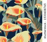 vector floral seamless pattern... | Shutterstock .eps vector #1533608765