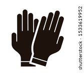 hand gloves vector icon.... | Shutterstock .eps vector #1533619952