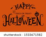 vector halloween emblem with... | Shutterstock .eps vector #1533671582