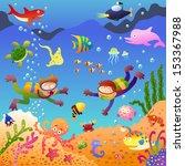 under the sea.eps10 file  ... | Shutterstock .eps vector #153367988