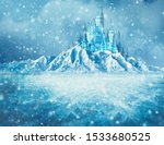 Magic Ice Castle With Snow
