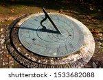 Stone And Metal Garden Sundial...
