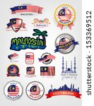 made in Malaysia, seals flags, Vector Art - stock vector