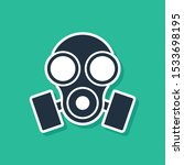 blue gas mask icon isolated on... | Shutterstock .eps vector #1533698195