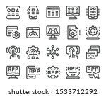 application thin line icon set... | Shutterstock .eps vector #1533712292