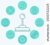 joystick vector icon sign symbol | Shutterstock .eps vector #1533722225