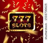 gold light 777 slots retro... | Shutterstock .eps vector #1533730025