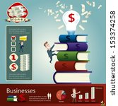 businessman infographics | Shutterstock .eps vector #153374258