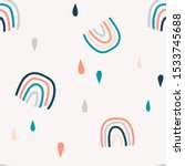 abstract rainbows hand drawn... | Shutterstock .eps vector #1533745688