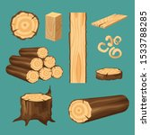 vector set of materials for... | Shutterstock .eps vector #1533788285