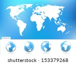 vector world maps and globes... | Shutterstock .eps vector #153379268