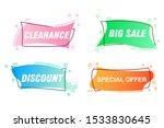 set of trendy banner with flat...   Shutterstock .eps vector #1533830645