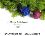 two christmas  decoration balls ... | Shutterstock . vector #153388895