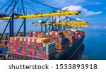 Container Cargo Ship At...