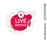 live vebinar abstraction red... | Shutterstock .eps vector #1533905048