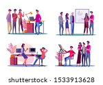 corporate meeting illustration... | Shutterstock .eps vector #1533913628