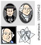 george washington   abraham... | Shutterstock .eps vector #153391412
