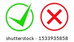 the green checkmark and red x... | Shutterstock .eps vector #1533935858