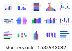 bar charts. trends statistic... | Shutterstock .eps vector #1533943082
