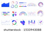 graph charts. colorful diagrams ... | Shutterstock .eps vector #1533943088