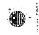 disco ball vector icon... | Shutterstock .eps vector #1533980222