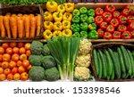assortment of fresh vegetable... | Shutterstock . vector #153398546