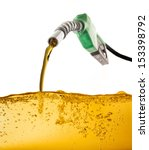 nozzle pumping gasoline in a... | Shutterstock . vector #153398792