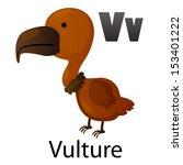 Alphabet V With Vulture