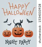 halloween comic flat vector... | Shutterstock .eps vector #1534033928