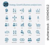 strategy growth   business... | Shutterstock .eps vector #153404312