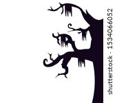 halloween haunted dry tree...   Shutterstock .eps vector #1534066052
