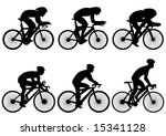 bicycle race silhouette   vector | Shutterstock .eps vector #15341128