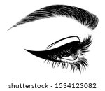 illustration with side view of... | Shutterstock .eps vector #1534123082
