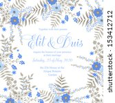 wedding invitation  thank you... | Shutterstock .eps vector #153412712