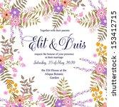wedding invitation  thank you...   Shutterstock .eps vector #153412715