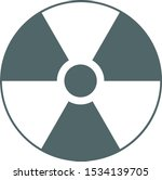 radioactive icon. radioactive... | Shutterstock .eps vector #1534139705