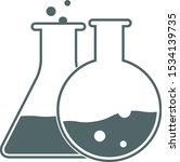 test tube icon. vector... | Shutterstock .eps vector #1534139735